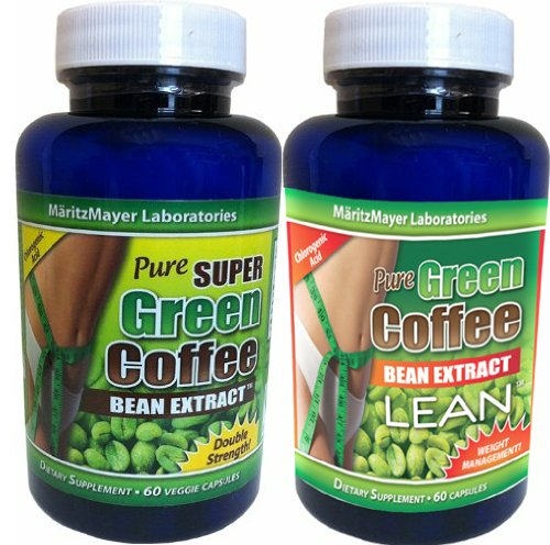 MaritzMayer Laboratories Green Coffee Bean Extract 1 Bottle 800mg Green Coffee Extract 1 Bottle with 800mg Green Coffee Bean Extract Plus 100mg Raspberry Ketone Total 2 Bottles of 60 Caps Each Contains Some Chlorogenic Acids