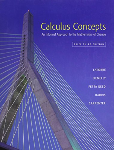 Calculus Concepts Brief Plus Graphing Calculator Guide 3rd Edition