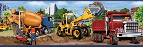 Chesapeake TOT46461B Elbow Grease Yellow Heavy Machinery Portrait Wallpaper Border (Truck Border compare prices)