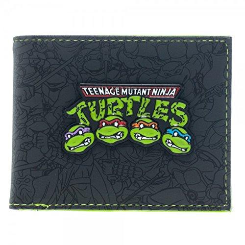 Portafoglio, motivo Teenage Mutant Ninja Turtles-Bi-Fold-Gruppo mw1sx1tmt nuovo con Licenza Ufficiale