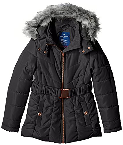 TOM TAILOR Kids Mädchen Jacke fancy jacket with belt/509, Gr. 140, Schwarz (black 2999)