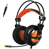 Letton G7 3.5mm Over-Ear Wired Stereo Gaming Headset Headphones With Microphone For PC Computer Gamer (Black And...
