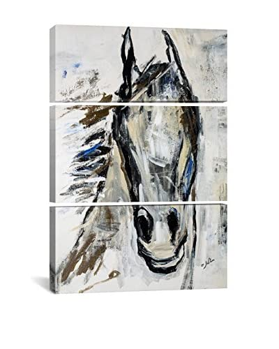 Julian Spencer Picasso's Horse I Gallery Wrapped Canvas Print, Triptych