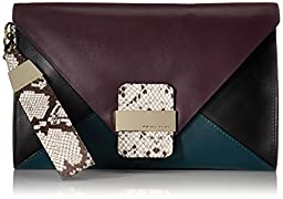 Trina Turk Kings Road Clutch, Teal Multi, One Size