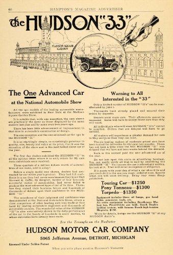 1911 Ad Hudson