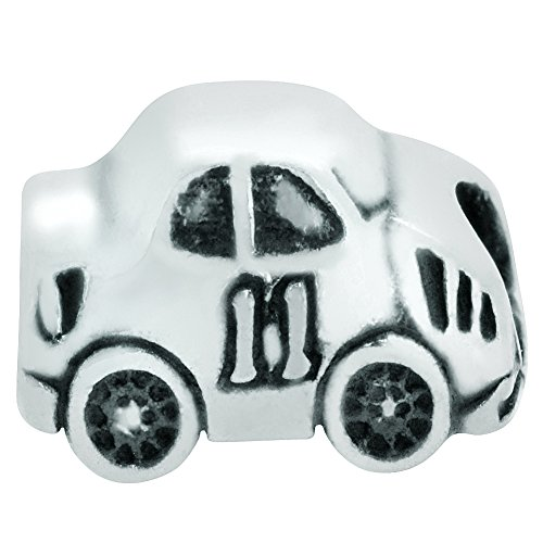 Zable Sterling Silver Racing Car Bead