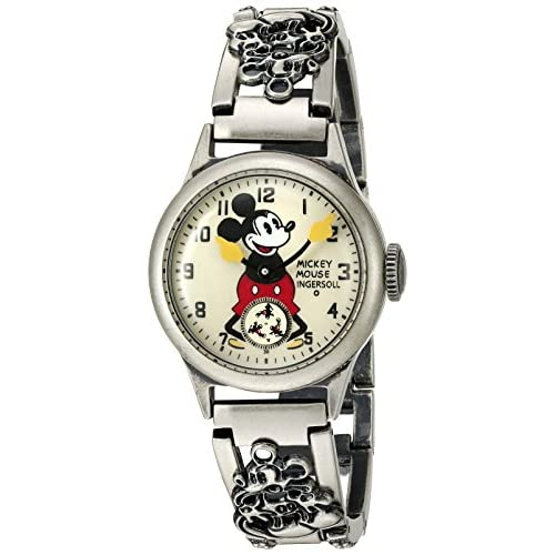 Ingersoll Mickey Mouse Men's IND 25832 Ingersoll Disney Mickey 30s Mechanical Analog Display Mechanical Hand Wind Black Watch