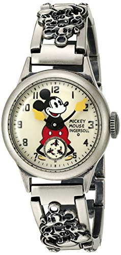 Ingersoll Mickey Mouse Men's IND 25832 Ingersoll Disney Mickey 30s Mechanical Analog Display Mechanical Hand Wind Black Watch 0