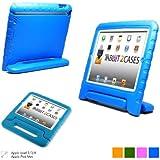 Étui enfant en bleu Cooper Cases (TM) Dynamo pour iPad 2/3/4 + protecteur d'écran gratuit (léger, non toxique mousse EVA, design résistant, protection supplémentaire, support libre)