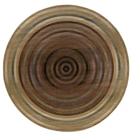 103680 - Rug Depot Contemporary Area Rug Shapes - 8' Round - Generations Collection - Multi Background - Machine Made of 100% Polypropelene - 550,000 Points - T-5 Quality Rating - 281J