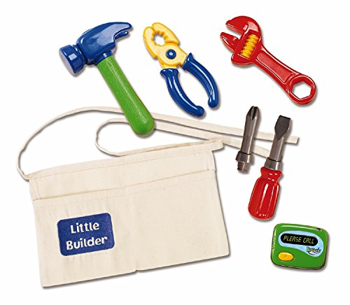 Kidoozie-Little-Builder-Tool-Belt-Includes-Belt-with-Pockets-Pretend-Hammer-Pliers-Wrench-Screwdriver-With-2-Bits-And-Electronic-Beeper-Ages-2-And-Up