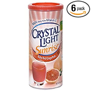 Crystal Light Sunrise Ruby Red Grapefruit, 3.4-Ounce Unit (Pack of 6)