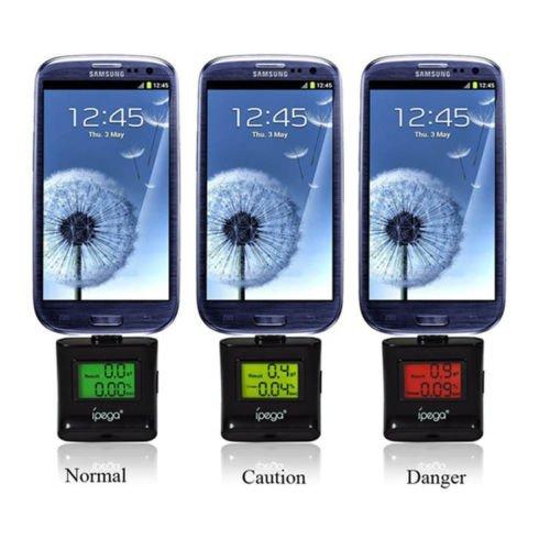 Mini ethylotest électronique smartphone alcootest pour Samsung,Galaxy S4 S3 NOTE2 Note 3 Noir