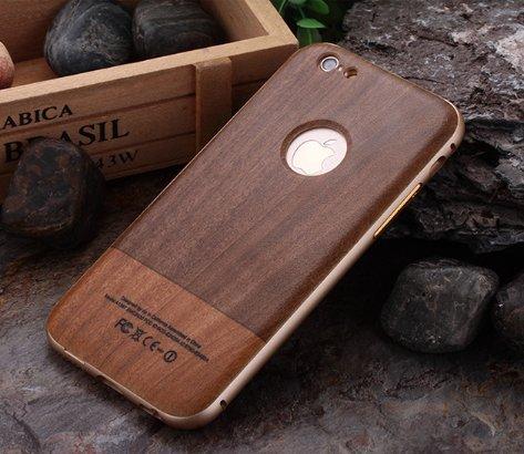 新発売 SPRING COME® 軽量 スマート アイフォン 用ケース バンパー 木調 天然木製カバー ナチュラルな感じ 取り外しもスムーズ ケース スタイリッシュApple アップル iPhone 6 6S 共用 アイ フォン (4.7inch) スマホ スマート ホン カバー 木制 ケース (アイホン6/6S 4.7インチ, NO.4) [並行輸入品]