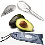 Avocado Slicer Peeler Skinner Tool with Fruit Knife Pit Remover - 2 Commercial Grade Stainless Steel Tools and Storage Bag by DaVoice