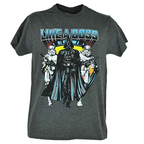 Star Wars Like A Boss Darth Vader Stormtrooper Distressed Grey Tshirt Tee Xlarge