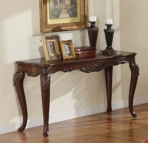 Cheap Console Sofa Table Queen Anne Style in Warm Brown Cherry (VF_HE1288-307)