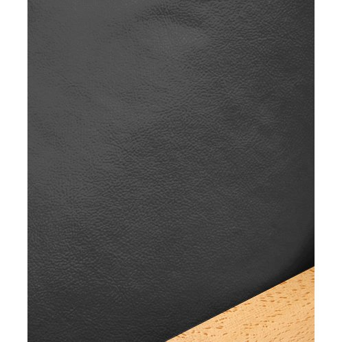 Faux Leather Black Fitted Mattress Cover Queen 172 front-903315