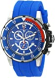 """Swiss Legend Men's 10348-03 """"Ocean Abyssos"""" Stainless Steel Watch with Blue Silicone Strap"""