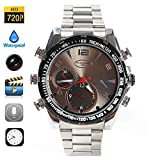 Boriyuan Fashion Stainless steel Watches 8GB Popular HD 720P Night Vision Recording Watch SPY Camera