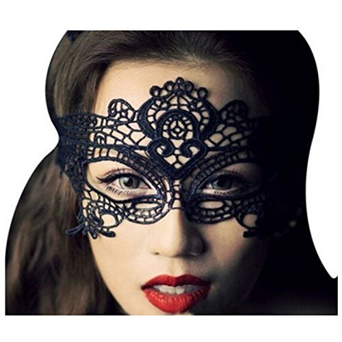 DPIST® Masquerade Masks Sexy Lace Eyes Mask for Masquerade Party Fancy Dress Black Plus Bag