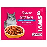 Iams Cat Mature & Senior Pouches with Chicken Gravy 8 x 100g