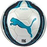 PUMA King 082027 16 Match Football FIFA Approved White / Fluorescent Blue / Black Size 5