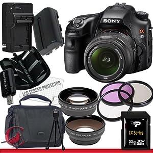 Sony Alpha SLT-A65 DSLR Digital Camera with 18-55mm Lens Package 3