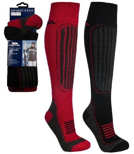 Trespass Langdon Thermal Winter Ski Socks 2 Pairs (Size 7-11)