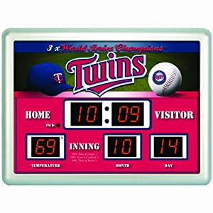 Minnesota Twins Clock - 14x19 Scoreboard by Caseys