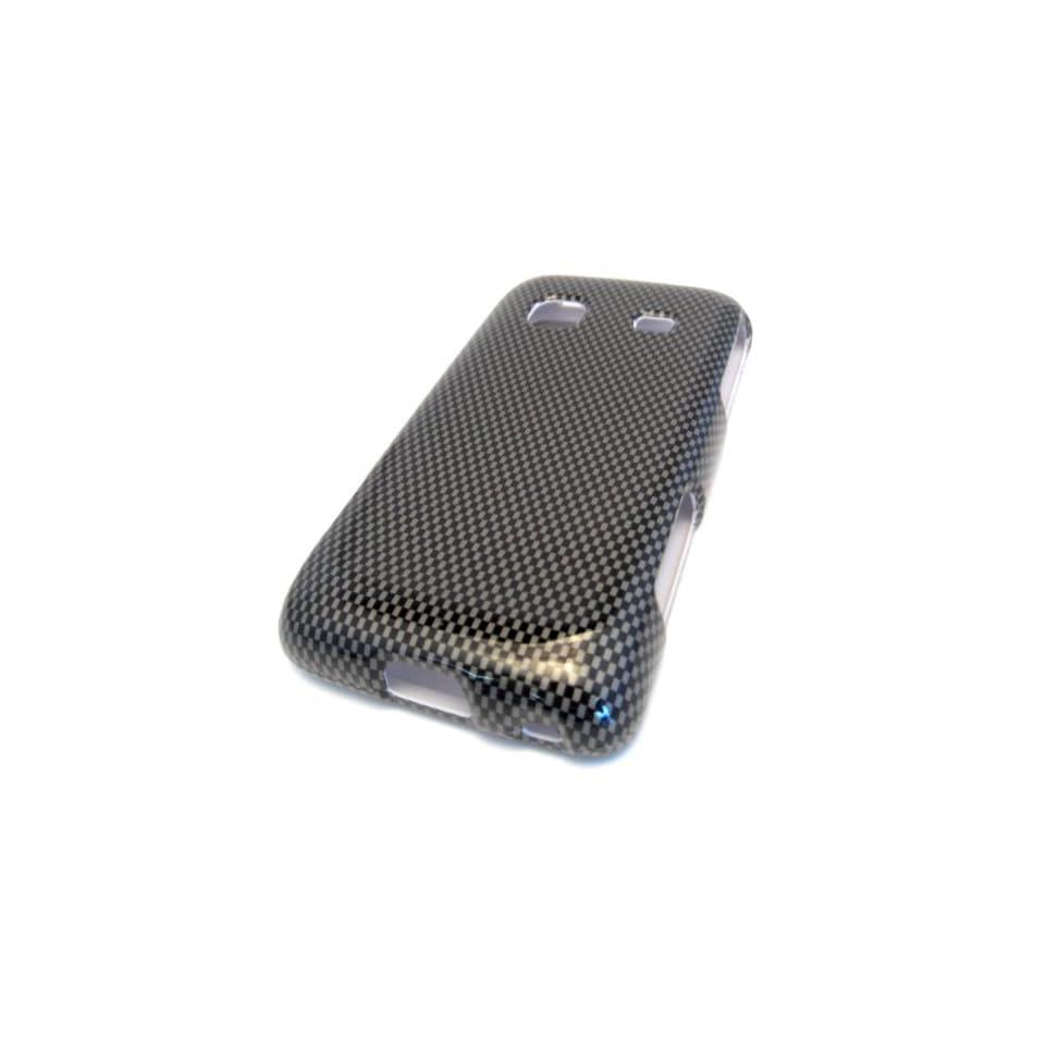 Samsung Galaxy M828c Precedent Black Carbon Fiber Design HARD Cover Case Skin Straight Talk Protector Hard