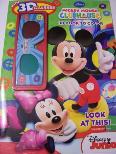 Disney Mickey Mouse Clubhouse 3D Book to Color with Glasses ~ Look at This! (2012) - 1
