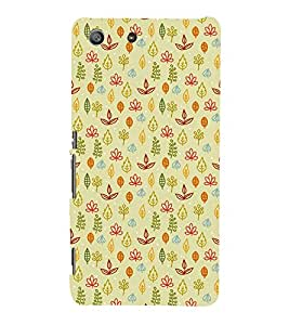 ANIMATED FLORAL ETHNIC PATTERN 3D Hard Polycarbonate Designer Back Case Cover for Sony Xperia M5 Dual E5633 E5643 E5663 :: Sony Xperia M5 E5603 E5606 E5653