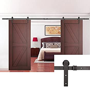 U-MAX 13 FT Double Door Sliding Track Barn Door Sliding Hardware (13 FT Straight)