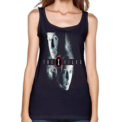 Youqian The X Files Mulder & Scully Womens T-Shirt XX-Large Black Tank Top