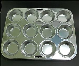 Stainless Steel Muffin Tin Fox Run 4868 Muffin Pan 12