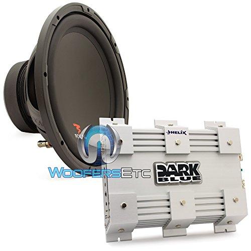 "Pkg Dark Blue 2 - Audiotec Fischer Helix 2-Channel 200W Rms 400W Max Amplifier + Sub P30 - Focal 12"" 250W Rms 500W Max Single 4-Ohm Subwoofer"