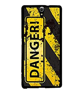 Danger 2D Hard Polycarbonate Designer Back Case Cover for Sony Xperia C5 Ultra Dual :: Sony Xperia C5 E5533 E5563