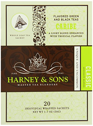 Harney And Sons Caribe Tea, 20 Count Box (Pack Of 6)
