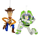 Hallmark Disney/Pixar Toy Story Buzz Lightyear and Woody Holiday Ornament