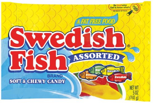 Swedish Fish Assorted Soft & Chewy Candy, 5-Ounce Bags (Pack of 12) (Blue Gummy Fish compare prices)
