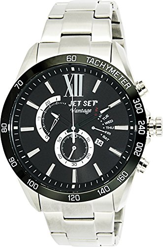 Jet Set Men's Chronograph Vantage silver/black J10871-232