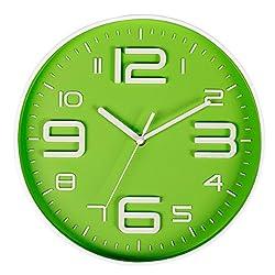 SonYo Indoor/Outdoor Big 3D Number Quartz Wall Clock Quiet Sweep Movement Decorative Living Room 10