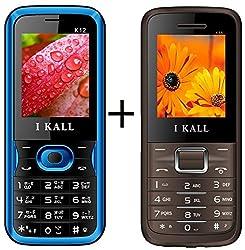 I KALL (K12Blue+K88Brown) Set of two Mobile Combo
