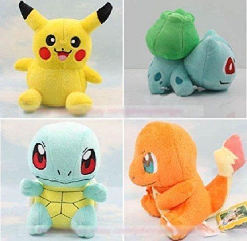 [4PCS Pokemon Plush Toys Pikachu Bulbasaur Squirtle Charmander Stuffed Plush Toy Set New] (Pokemon Togepi Costume)