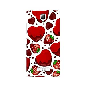 Mobicture Strawberry and Hearts Premium Printed Case For Lenovo A2010