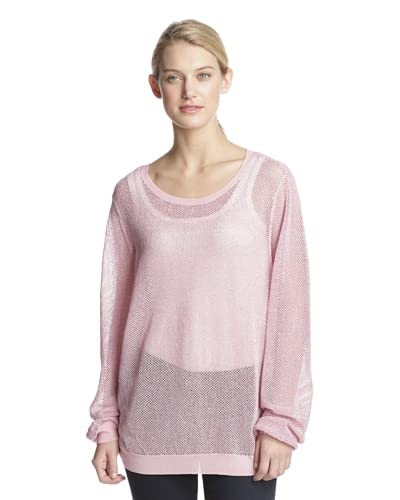 Shae Women's Sparkle Knit Pullover  [Pink]