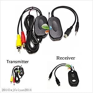 Wireless RCA Video Transmitter & Receiver Kit for Car Reversing Rear View Camera