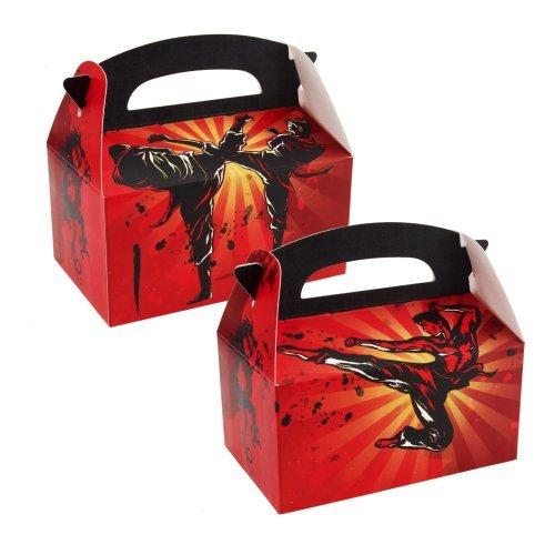 Martial Arts Empty Favor Boxes (4) Party Supplies