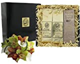 Gourmet Coffee Gift of Dark Roast Kona Hawaiian Coffee and Almond Roca Candy, Ground Coffee, for Christmas, Birthday, Mothers Day, Fathers Day and All Occasions